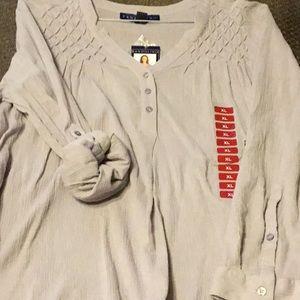 Bandolino size XL grey 3/4 or long sleeves shirt